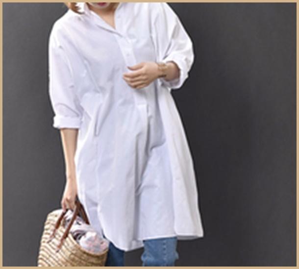おばさん ファッション チュニック
