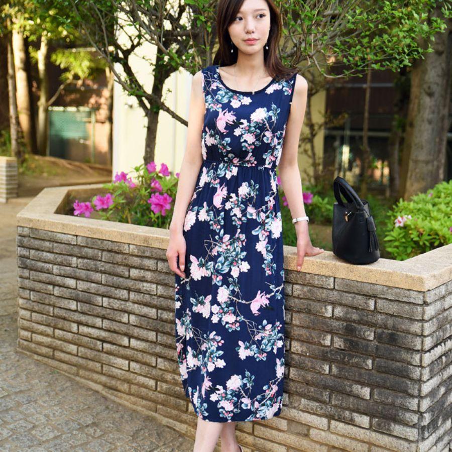 40代 ファッション 夏 ボタニカル コーデ
