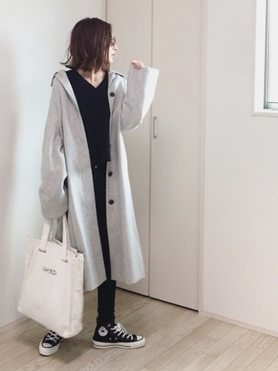 ファッション 秋 スニーカー コーデ