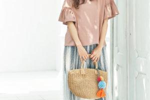 チュールスカート コーデ 夏 40代